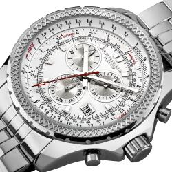 Akribos XXIV Men's Large Chronograph Bracelet Watch
