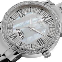 Akribos XXIV Men's Sparkling Diamond Bracelet Watch
