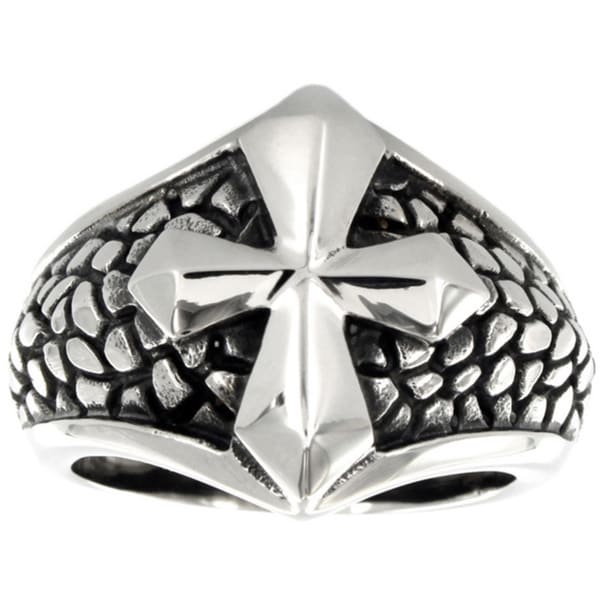 Stainless Steel Medieval Cross Ring
