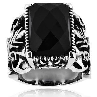 Stainless Steel Onyx Royal Ring