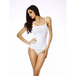 Playboy Women's White Tank Top/ Thong Set