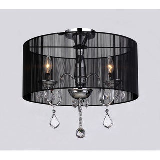Round Satin Crystal Chandelier