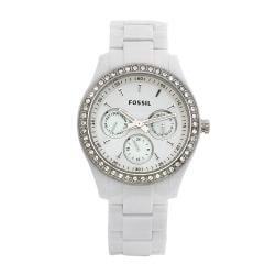 Fossil Women's ES1967 Stella White Glitz Watch