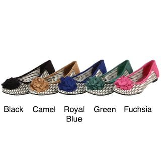 Henry Ferrera Women's Floral Design Weave Flats FINAL SALE