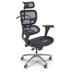 Balt Ergonomic Black Butterfly Chair with Mesh Back and Steel Frame