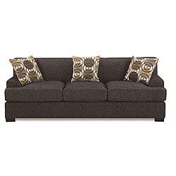 Ash Black Faux Linen Sofa