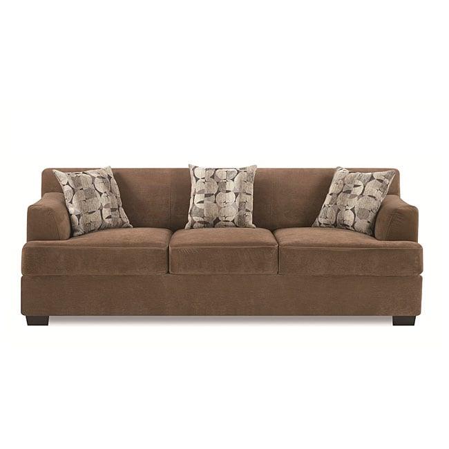Tan Butter Velvet Sofa