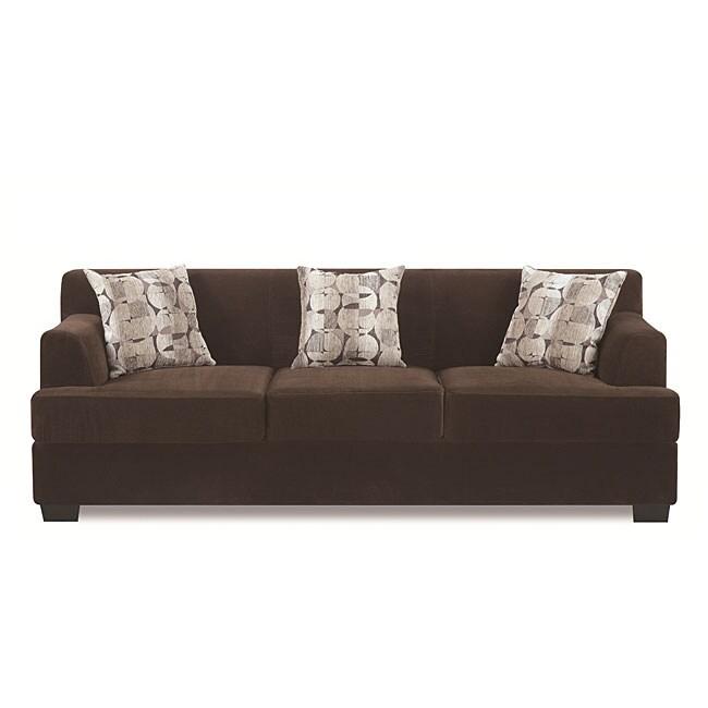 Chocolate Butter Velvet Sofa