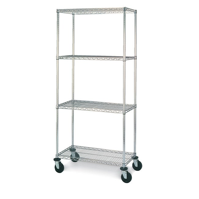 Olympic Four-Shelf Steel Mobile Unit