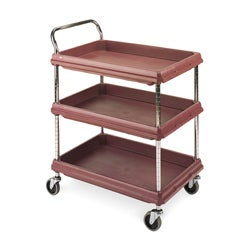 3 Shelf Polymer Deep Utility Cart
