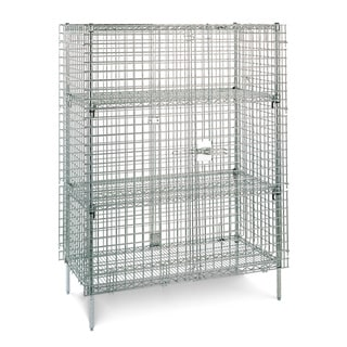 Olympic 2 Shelf Chrome Security Unit - 24 x 36 x 65 inches high