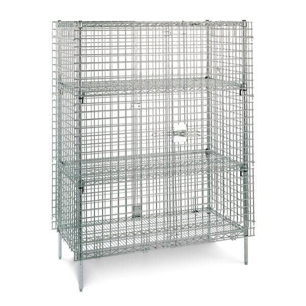 Olympic 2 Shelf Chrome Security Unit - 24 x 36 x 65 inches high
