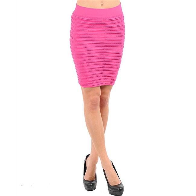 Stanzino Women's Fuschia Seamless Bandage Skirt