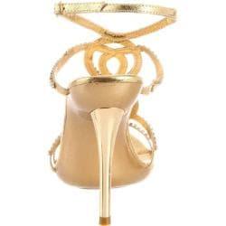 Celeste Women's 'Ocean-11' Gold Rhinestone Heels