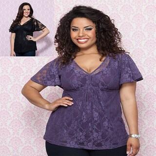 Kiyonna Women's Plus 'Liana' Lace Tunic