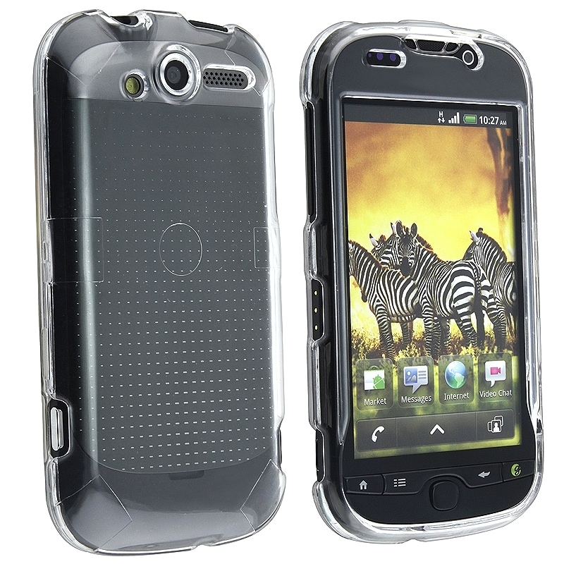 INSTEN Clear Snap-on Crystal Phone Case Cover for HTC myTouch 4G