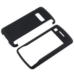 BasAcc Black Snap-on Rubber Coated Case for LG enV Touch VX11000