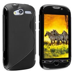 BasAcc Frost Black S Shape TPU Rubber Skin Case for HTC myTouch 4G