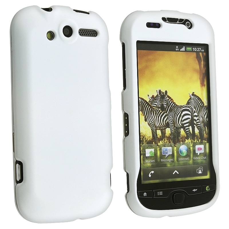 BasAcc White Snap-on Rubber Coated Case for HTC/ T-Mobile myTouch 4G