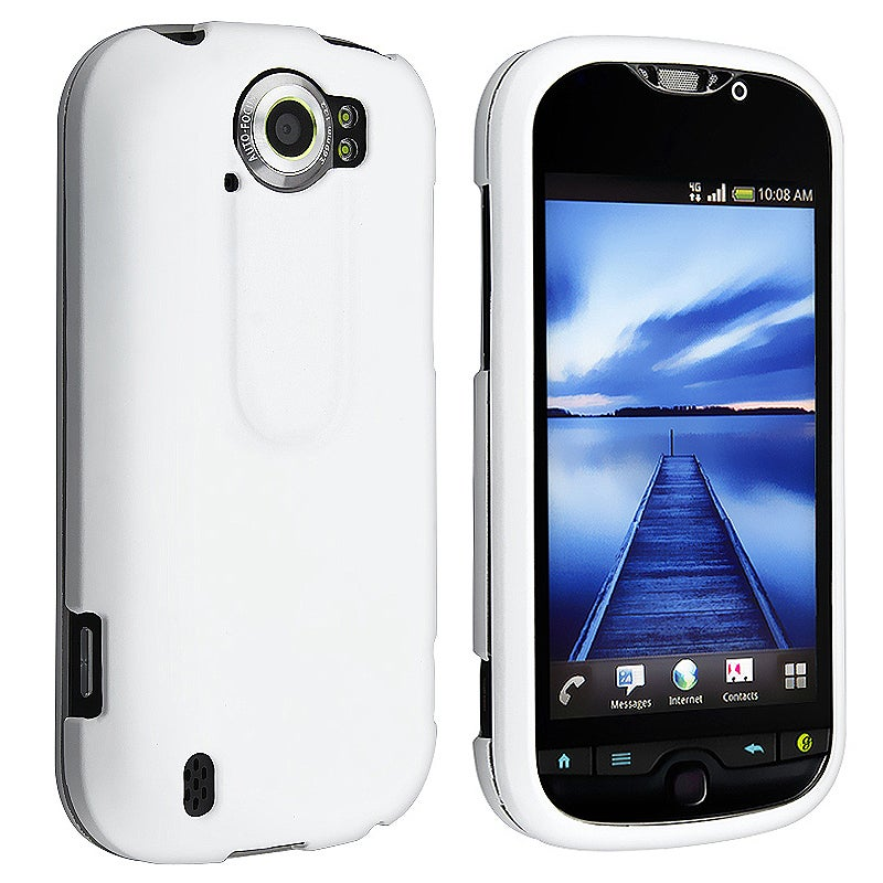 BasAcc White Rubber Coated Case for HTC T-Mobile myTouch 4G Slide
