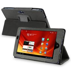 BasAcc Black Leather Case for Acer Iconia Tab A100