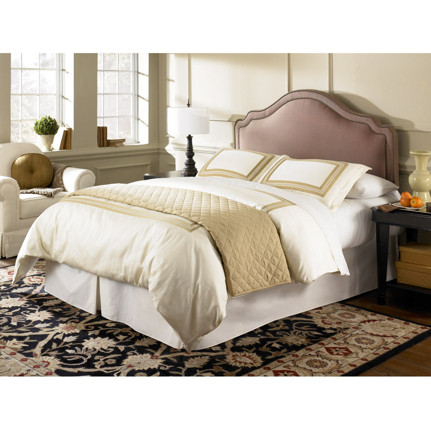 Fashion Bed Versailles Brown Sugar Twin Upholstered Headboard
