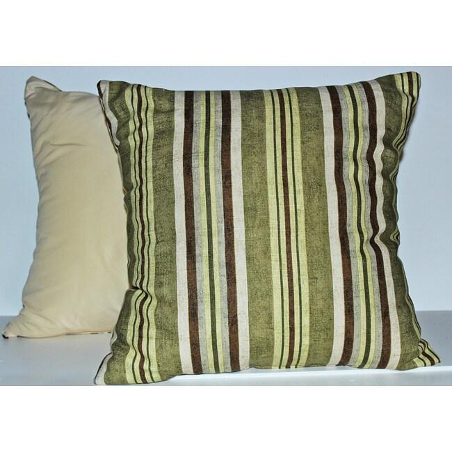 Alton Stripe Lime Decorative Pillows (set of 2)