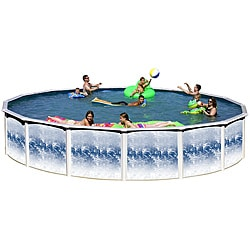 Yorkshire 'Blue Lagoon' 24-foot All-in-1 Above Ground Swimming Pool Kit