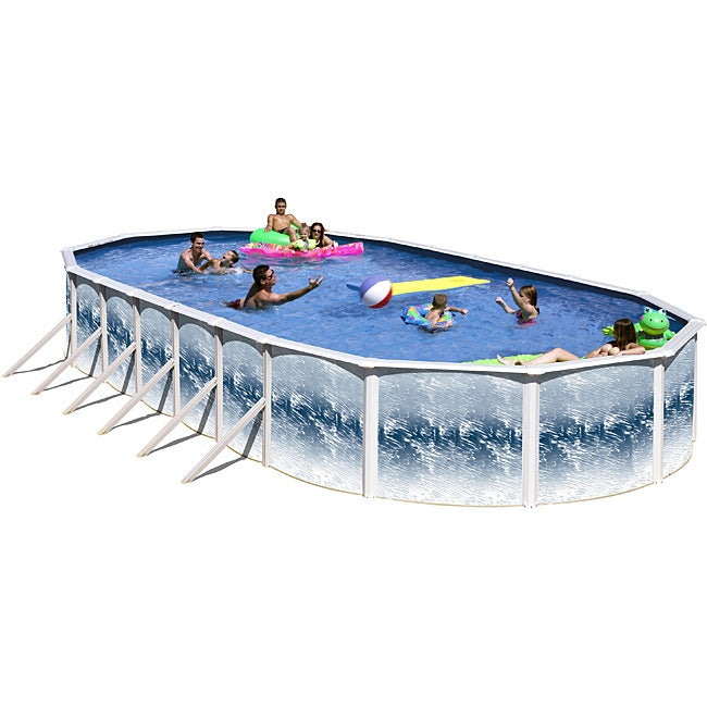 Yorkshire 24 Foot All In 1 Above Ground Swimming Pool Kit Overstock Shopping The Best Prices