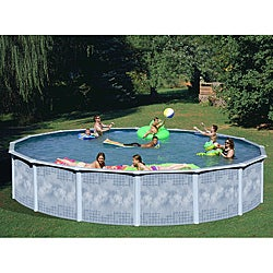 Quest 24-foot Round All-in-1 Above Ground Swimming Pool Kit