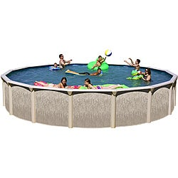 Galveston Dune Wall 24-foot All-in-1 Above Ground Swimming Pool Kit