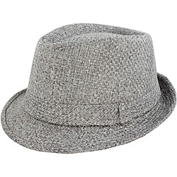 Faddism Men's Grey Woven Fedora Hat