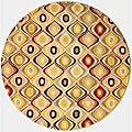 Hand Tufted Wool Retro Chic Rug (6' Round)