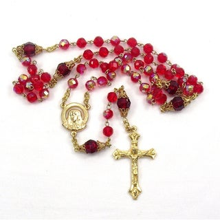 Light Siam Red Crystal Rosary