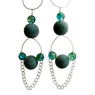Turquoise Velvet Earrings
