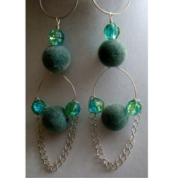 Turquoise Velvet Earrings