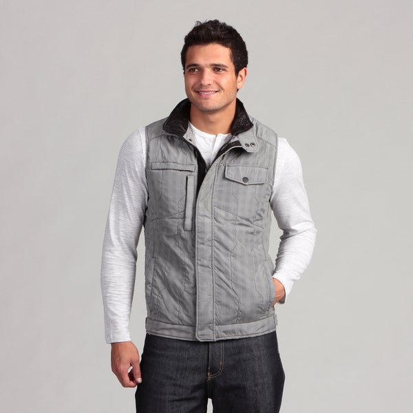 Civil Society Men's Grey Zipper Vest