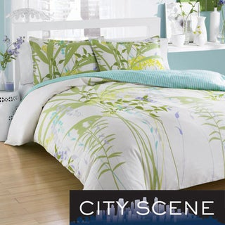 City Scene Mixed Floral 3-piece Comforter Set