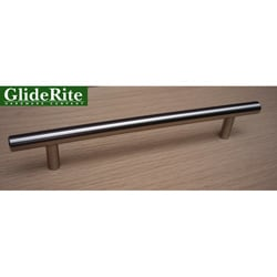 GlideRite 8-inch Solid Stainless Steel Finished Cabinet Bar Pulls (Case of 25)