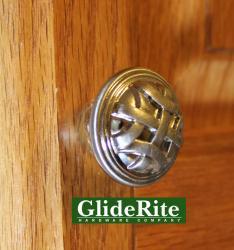 GlideRite 1.25-inch Satin Nickel Round Braided Cabinet Knobs (Case of 25)