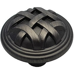 GlideRite Pewter Round Braided Cabinet Knobs (Case of 25)