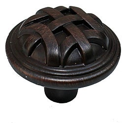 GlideRite 1.25-inch Oil Brushed Bronze Round Braided Cabinet Knobs (Case of 25)