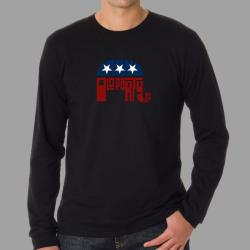 Los Angeles Pop Art Men's GOP Long-sleeve T-shirt