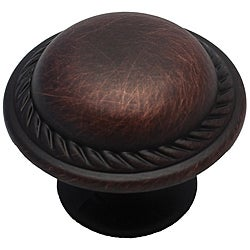 GlideRite Oil Brushed Bronze Round Rope Cabinet Knobs (Case of 25)