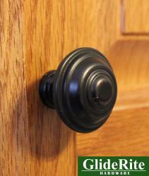 GlideRite 1.25-inch Oil Rubbed Bronze Cabinet Knobs (Case of 25)