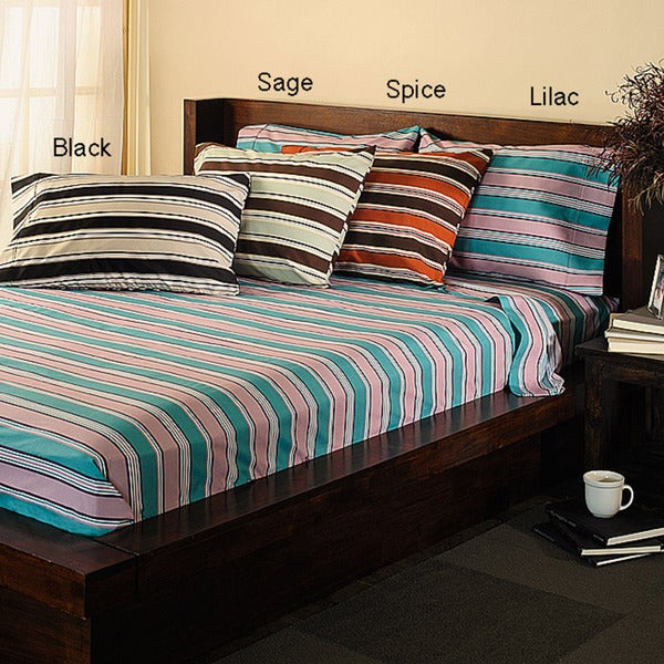Classic Percale 250 Thread Count Oversize Stripe Sheet Set