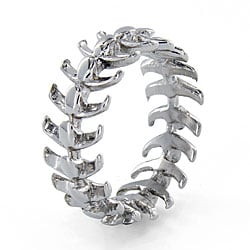 West Coast Jewelry Stainless Steel Vertebrae Loop Ring