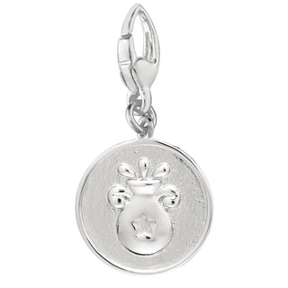 Sterling Silver Aquarius Charm