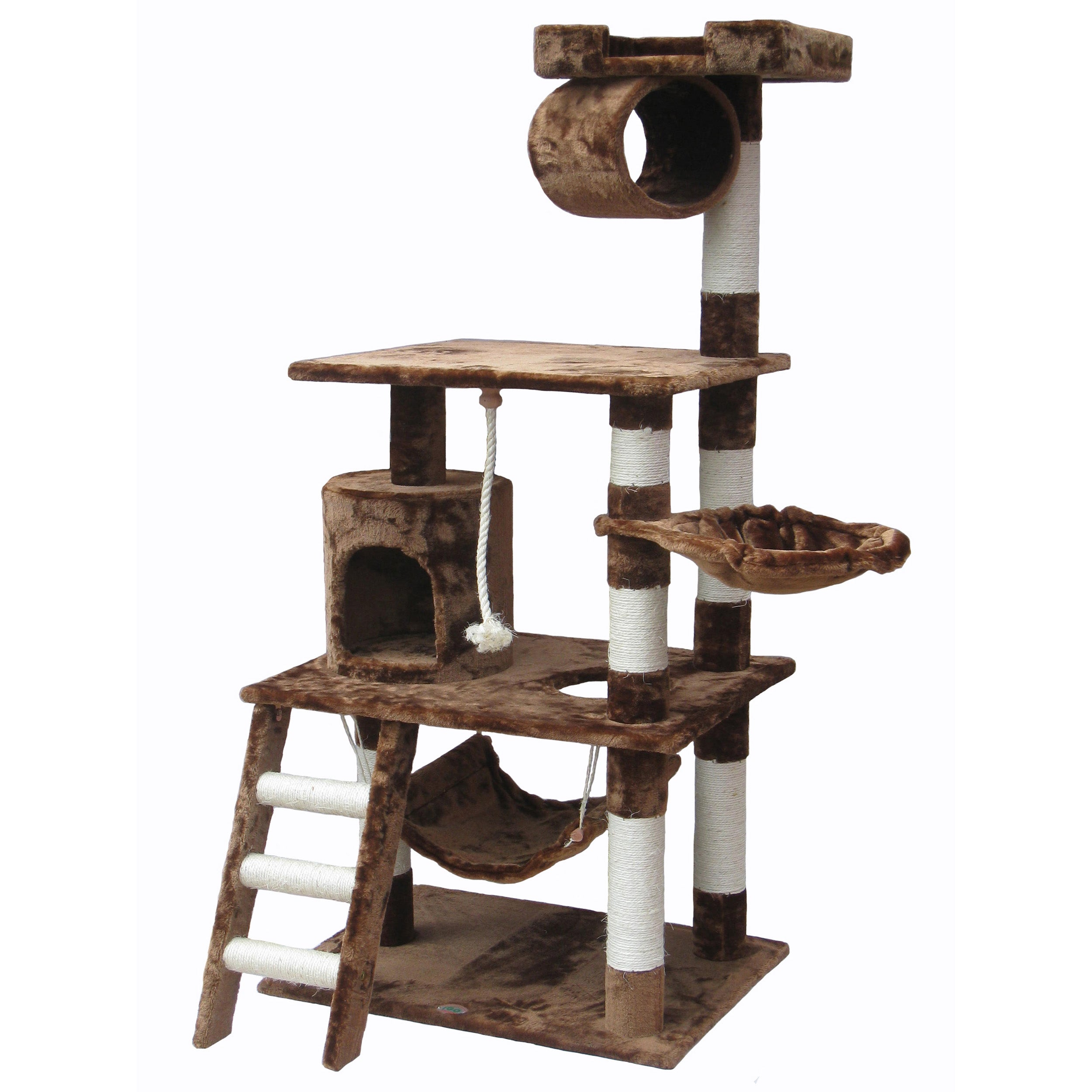 Multi level go pet club 62 inch cat tree 14281272 - Sofas para gatos ...