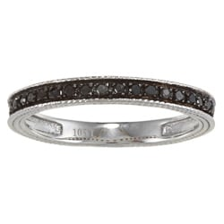 10k White Gold 1/6ct TDW Black Diamond Band (G-H, I1-I2)